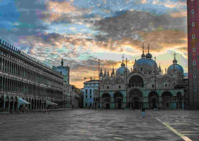 St. Mark's Square at sunrise, 15 minute walk