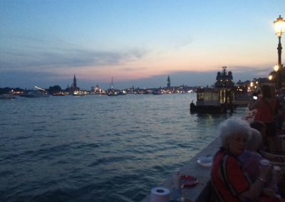 Waiting for the fireworks at Riva dei Partigiani